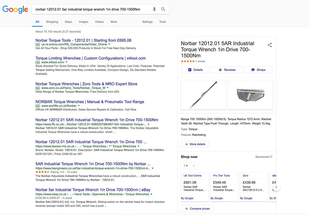 Integrated Rich Media Google Shopping Results