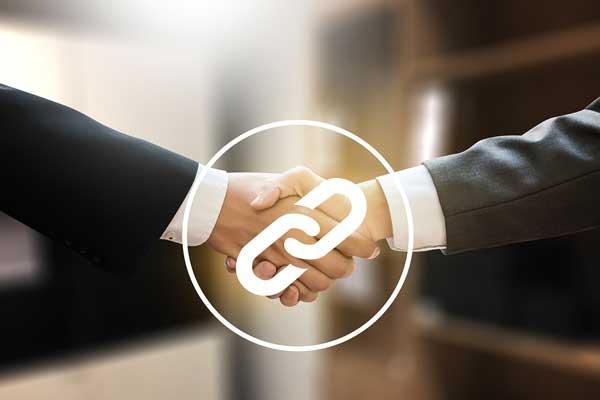 link building handshake