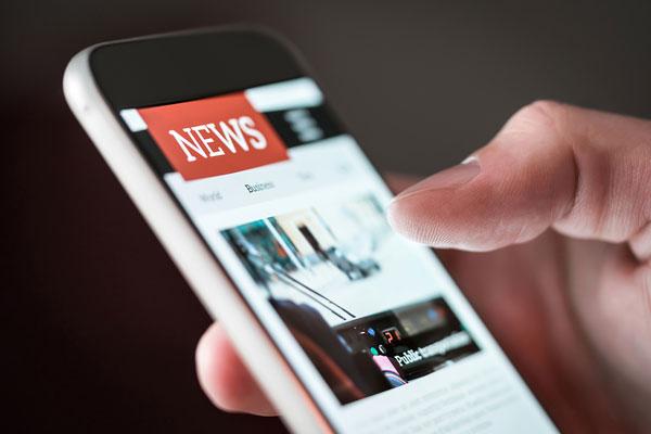 news site on mobile