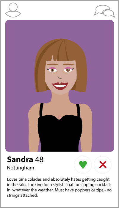 Customer profiling with Tinder personas.